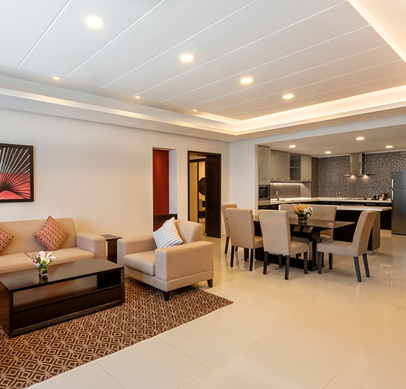 Three Bedroom Suite at Ramada Hotel & Suites Amwaj Islands